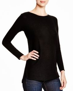 I really like how the stitching adds an interesting touch to this sweater, yet its subtle that it will stay in style. This would be great on my winter lay overs.  C by Bloomingdale's Ottoman Stitch Cashmere Tunic | Bloomingdale's