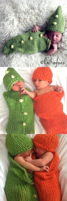 Carrots and Peas Baby Cocoons are great for taking baby to Thanksgiving events and for family pictures.