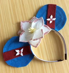 Mulan Mouse Ears Headband by TwoEarsUp on Etsy