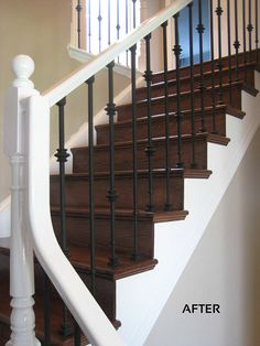 Elegant Valerie Ct. After: Client Chose To Have The Stringers And Handrail  Refinished In White