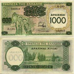 1000 Drachmai 1939