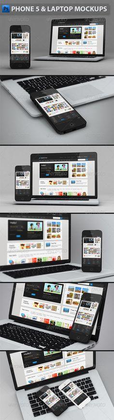 Phone and Laptop Mockups Download here: https://graphicriver.net/item/phone-and-laptop-mockups/4493054?ref=KlitVogli