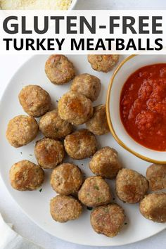 These gluten-free turkey meatballs are versatile, flavorful and completely delicious! They also freeze great for homemade gluten-free frozen meatballs to have on hand to add to your favorite dishes. Gluten Free Meatballs, Turkey Meatballs, Best Gluten Free Recipes, Gluten Free Recipes For Dinner, Yummy Recipes, Yummy Food, Healthy Recipes, Gluten Free Appetizers, Gluten Free Snacks