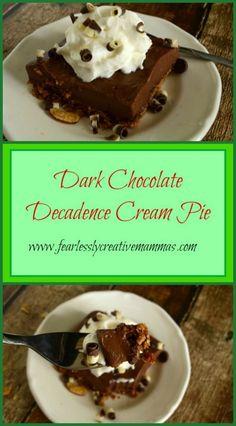 Dark Chocolate Decadence Cream Pie - Oh goodness, so good.  #GGGChallenge2016