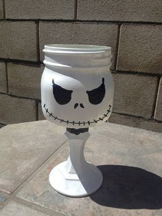 Jack skellington mason jar