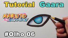 Como Desenhar Olho do Gaara - Naruto Shipuden - How to Draw Eye of Gaara