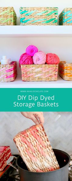 DIY Dip Dyed Storage Baskets - A Kailo Chic Life %