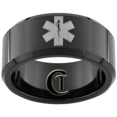 Star of life paramedic ring. Maybe being a paramedic is my destiny I'd wear it. Firefighter Paramedic, Paramedic Gifts, Tactical Medic, Ems Humor, Emergency Medical Services, Cool Gifts, Etsy, Stuff To Buy, Black