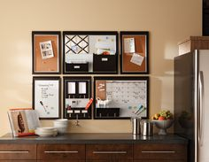 wall organization - For the kitchen behind the computer.  Use 3M to attach to wall