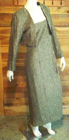 NWT AFTER DARK GOLD METALLIC SIZE 14 FORMAL DRESS and BOLERO JACKET #AFTERDARK #BallGown #Formal