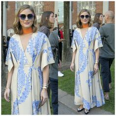 Olivia Palermo accented in orange at @fendi firing Milan Fashion Week #oliviapalermo #fendi #mfw#mfwss18