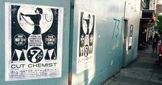 #CutChemist is coming to mezz FRI 5.13 to celebrate #momdjs 7TH ANNIVERSARY and the word is out on the street! come be a part of the party! tickets at mezzaninesf.com #flyeritup #streetsofSF #streetart #concertposters #MOMdjs7year by mezzaninesf