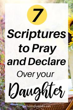 Take a look at these 7 Scriptures to pray over your daughter as she grows to be the woman of God she is meant to be! These Scriptures can be turned into powerful prayers to pray for your daughter each day! Plus download a free mother/daughter prayer journal! #prayerfordaughter #daughterquotes #prayer Powerful Scriptures, Prayer Scriptures, Bible Prayers, Prayer Quotes, Bible Verses, Powerful Prayers, Prayers For My Daughter, Daughter Quotes, To My Daughter