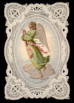 old holy card lace canivet santino merlettato°GUARDIAN ANGEL 7 • CAD 30.99…