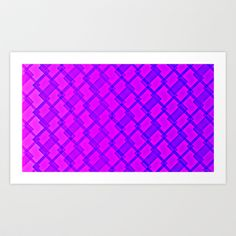 Pink and Blue Squares Art Print by Maggie Martin Art - $17.00