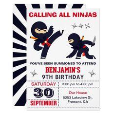 Ninja Birthday Cake, Ninja Birthday Parties, Ninja Party, Kids Birthday Party Invitations, Birthday Fun, Birthday Party Themes, Birthday Ideas, Naruto Birthday, Lego Parties