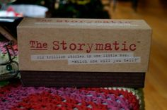 A cure for writer's block, a creative teaching tool, an inspired game -- The Storymatic offers creative fun!
