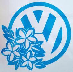 Volkswagen Vw Hibiscus Flowers Sticker Badge Graphic Decal Camper Van T4 T5 T2