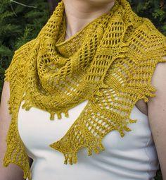 Free Knitting Pattern for Baskin Shawl