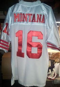 NWT! MSRP $300.00! Mitchell/Ness Montana 1989 SF 49er's Throwback Jersey! (52).  #MitchellNess #SanFrancisco49ers