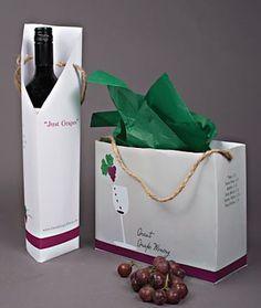 Bolsas para botellas de vino con un diseño original. #packaging