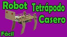 Cómo Hacer Robot de 4 Patas Casero (muy fácil de hacer)