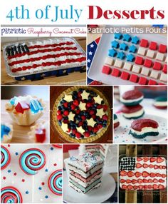 4th of July Desserts to complete your Independence Day celebration! A collection of the best Red White and Blue desserts to make your independence day a hit!