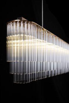 Original design chandelier (glass) - LINEAR - Tom Kirk Lighting