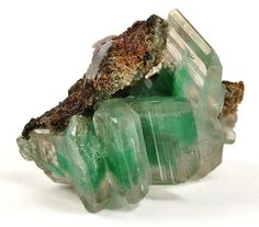 Cerussite with Malachite inclusions - Namibia / Mineral Friends <3