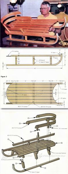 Bentwood Sleigh Plans - Children's Plans and Projects | WoodArchivist.com