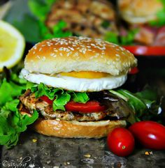 My Chicken Burgers are easy, tasty and quick. You can create an amazing meal around these burgers. Cooking On The Grill, Easy Cooking, Burger Recipes, Grilling Recipes, Burger Night, Hamburger Patties, Gluten Free Chicken, Lemon Chicken, Cool Kitchens