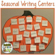 Fern Smith's Classroom Ideas Quick, Easy and Inexpensive Seasonal Writing Centers.