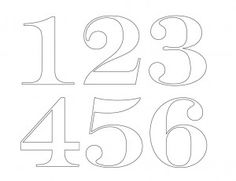 numbers stencil pinteres