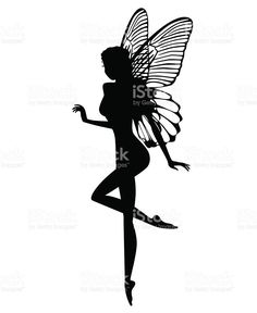 Find Silhouette Fairy Isolated On White Background stock images in HD and millions of other royalty-free stock photos, illustrations and vectors in the Shutterstock collection. Fairy Silhouette, Silhouette Tattoos, Silhouette Images, Black Silhouette, Pixie Tattoo, Rose Drawing Tattoo, Fairy Drawings, Fairy Tattoo Designs, Fairy Lanterns