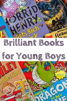 Brilliant Books for Young Boys. Fun chapter books for early readers, from Horrid Henry to Flat Stanley.