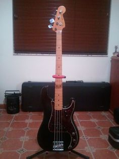 My 1978 Fender P-Bass which was converted to a fretless by Sadowsky Guitars back in 1999.