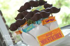 mustaches favors for a mexican party