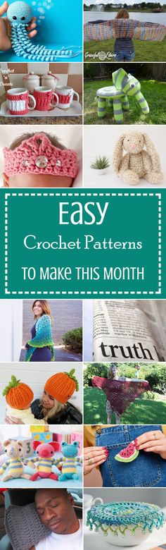 40 Easy Crochet Patterns To Make This Month