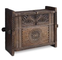 In Himachal Pradesh such trousseau chests were given to a bride. The region has a rich resource of wood and the local artisans used the wood to make various objects. The extent of the carvings on these items signalled the social status of the owner. #HimachalPradesh, #20thCentury