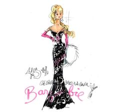 SET-OF-2-ROBERT-BEST-45TH-50TH-ANNIVERSARY-BARBIE-FASHION-PRINTS-5x7