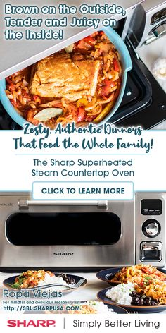 Shop Sharp SuperSteam Steam Oven Stainless Steel at Best Buy. Find low everyday prices and buy online for delivery or in-store pick-up. Countertop Oven, Countertops, Meals For Four, Stainless Steel Oven, Radiant Heat, Oven Cooking, Weeknight Meals, Chicken Recipes, Sweet Treats