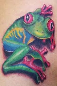 tree frog tatoo