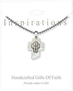 Silver Crosses Medallion Necklace