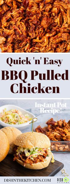 This flavourful BBQ Pulled Chicken is a quick and easy Instant Pot dinner ready in under 30 minutes. It's perfectly seasoned, fork tender, and super saucy! #InstantPot #InstantPotBBQ #InstantPotChicken #BBQPulledChicken Pulled Chicken Recipes, Shredded Bbq Chicken, Bbq Sauce Ingredients, How To Make Bbq, Great Recipes, Favorite Recipes, Homemade Barbecue Sauce, Instant Recipes