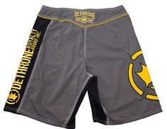 Dethrone Anticrown Fight Shorts - Charcoal