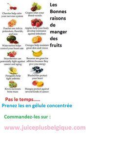 Les fruits, les légumes chez vous en capsule = www.juiceplusbelgique.com