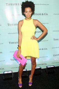 combine yellow + pink in a grown up way--Solange Knowles -rarely hits a false note
