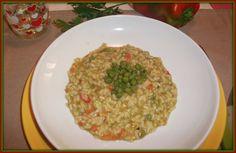 Semplice-mente in cucina: risotto con crema di piselli e peperoni .....provatelo e vi leccherete i baffi