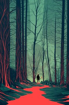 Don't walk in the woods by yourself😨😱 Absolutely amazing illustration by artist . Leave a comment below and let us know what you think 👍 👇 🙋 . Inspiration Art, Art Inspo, Fantasy Kunst, Fantasy Art, Art Environnemental, Art Et Illustration, Art Graphique, Environment Design, Environmental Art