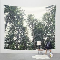 Up In The Woods Wall Tapestry by Tordis Kayma | Society6